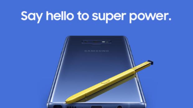 0b406b60d5a Unpacked Samsung Galaxy Note 9  control remoto para el S Pen y una batería  que dura un día entero
