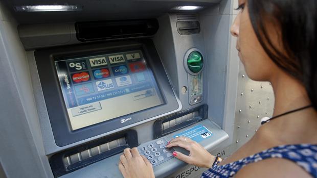 Un cajero automático en Valencia