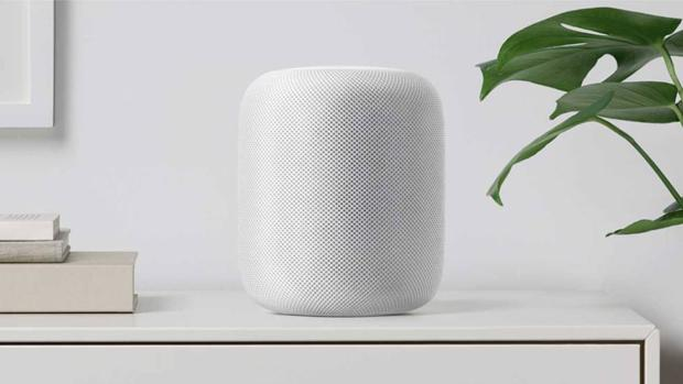 Detalle del HomePod, primer altavoz inteligente de la compañía