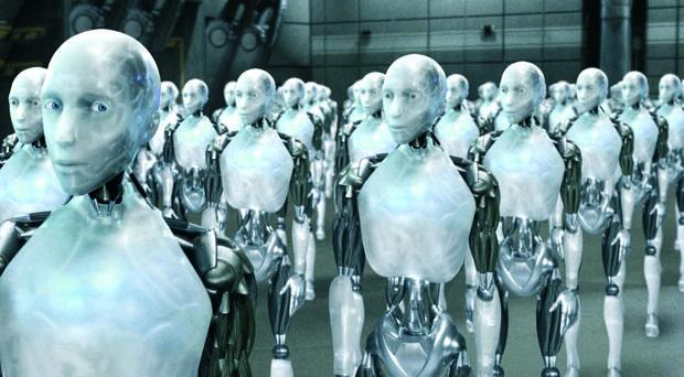 Captura de la película «Yo robot»