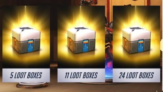 Catptura de una caja de botín de «Overwatch»