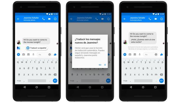 Cómo funcionan las traducciones de Facebook Messenger