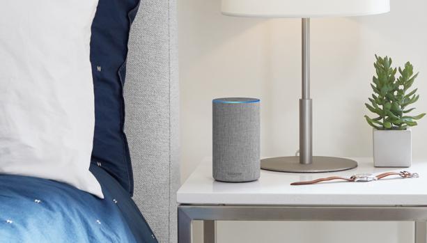Detalle de Amazon Echo, el dispositivo inteligente de la firma americana