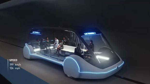 Así será el tren ultrarrápido de Elon Musk que inaugurará en diciembre