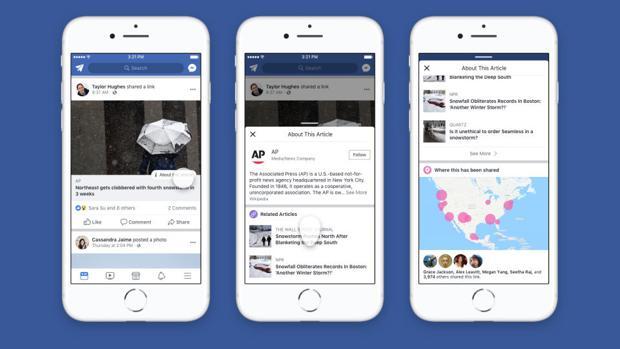Contexto, el nuevo botón de Facebook en su lucha contra las «fake news»