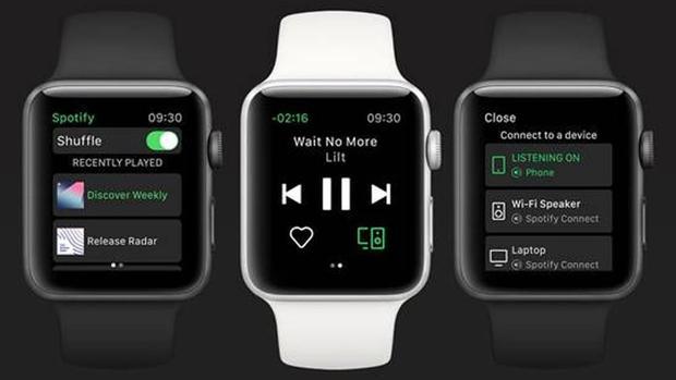 Captura de cómo queda la aplicación en un reloj inteligente