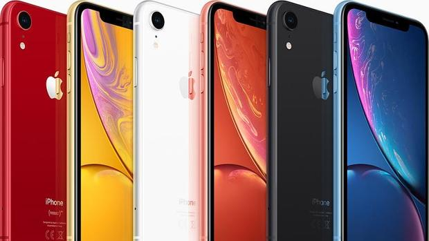 Detalle de los últimos modelos de telefonos de Apple