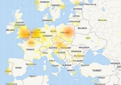 Los problemas de conexión de Facebook en diferentes países de Europa