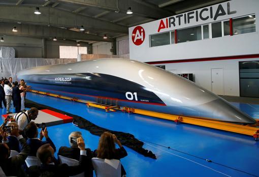 Presentación de la cápsula de Hyperloop el pasado mes de octubre