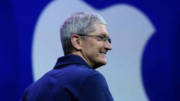 Tim Cook, consejero delegado de Apple, durante una intervención