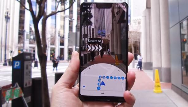 Así será el modo de realidad aumentada de Google Maps para guiarte más fácilmente