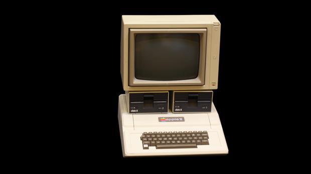 Detalle de un ordenador Apple II