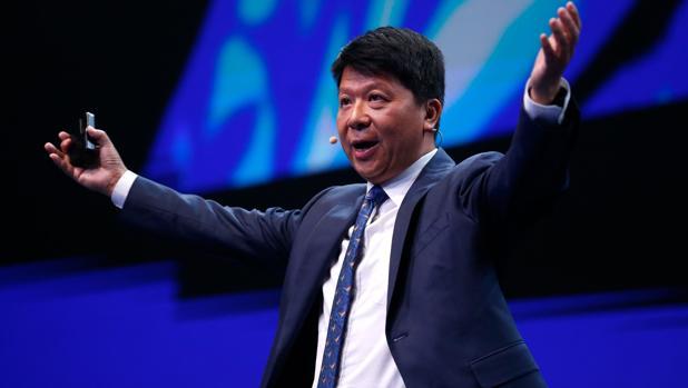 Guo Ping, presidente rorativo de Huawei, durante su intervención del Mobile World Congress