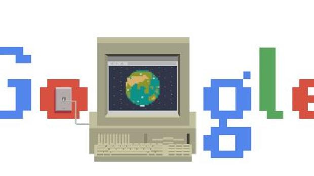 Google celebra el aniversario de Internet con un doodle
