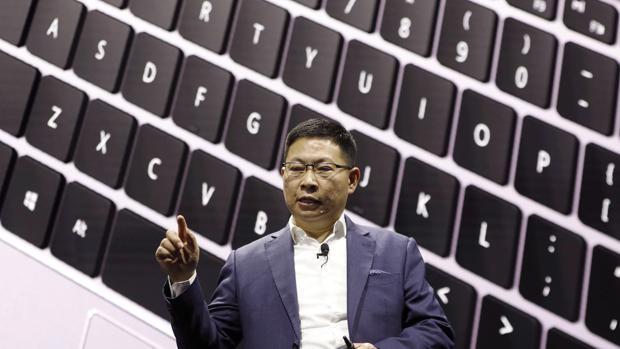 Richard Yu, responsable de la división de consumo de Huawei, durante una presentación
