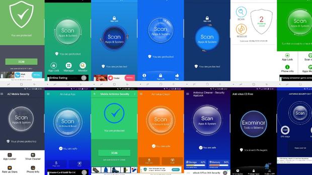 Ejemplos de antivirus en Android