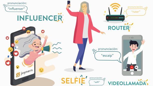 «Guatsapear», «feisbuk», «aifon» o «fologüers»: llega el diccionario «tech» para abuelos