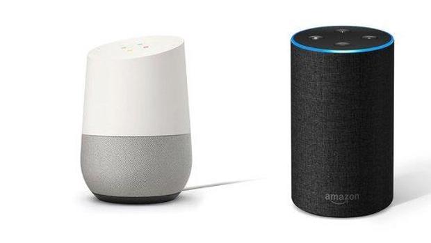 Detalle de Google Home y Amazon Alexa