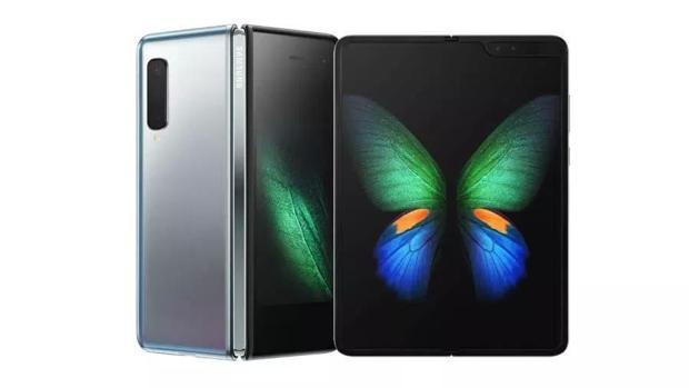 Detalle del Galaxy Fold, el primer móvil flexible de Samsung