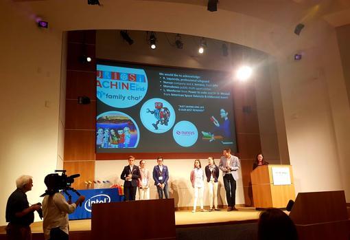 Fenando Aparicio y el equipo durante su visita a San Francisco presentando su proyecto