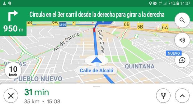 Google Maps te dice ahora a la velocidad que vas: así se activa el velocímetro