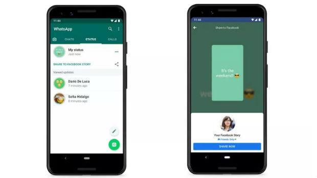 WhatsApp pone a prueba su función para compartir sus estados como historias de Facebook