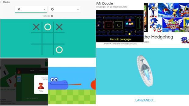 Los mejores juegos ocultos de Google