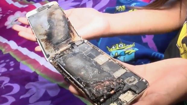 Un iPhone 6 estalla en la cama de una niña de 11 años