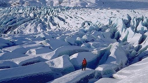 Una vista impresionante del glaciar Vatnajökull