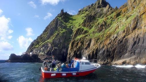 A Skellig solo se puede llegar en barco
