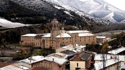 Vista general del El Monasterio de Yuso en San Millán de la Cogolla
