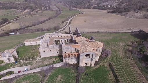 Vista aérea del monasterio de Monsalud