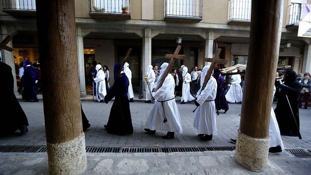 Procesion del Encuentro de Jesus Camino del Calvario con su Madre en Medina de Rioseco