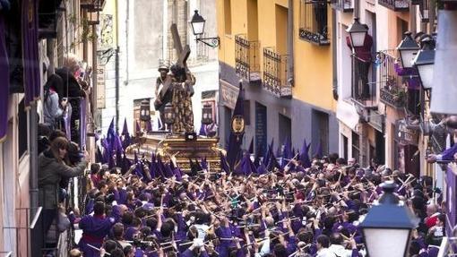 Procesión del Camino del Calvario o de Las Turbas, la más popular y multitudinaria de su Semana Santa de Cuenca