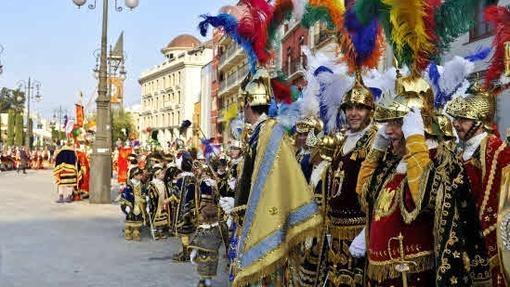 Procesión de la Mayordomía de Nuestra Señora de los Dolores, primera de la Semana Santa de Orihuela (procesion de las mantillas)