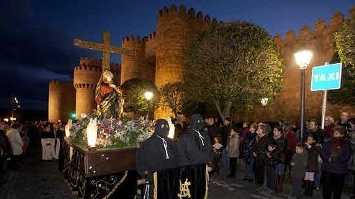 Procesion de la Soledad de la Semana Santa de Ávila