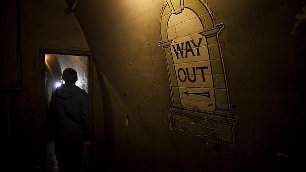 Uno de los túneles de la estación de Down Street