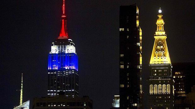 La cima del Empire State, iluminada, en una imagen de archivo