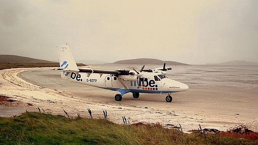 Barra Airport, en la isla de Barra