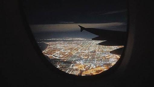 Vista nocturna de Los Angeles