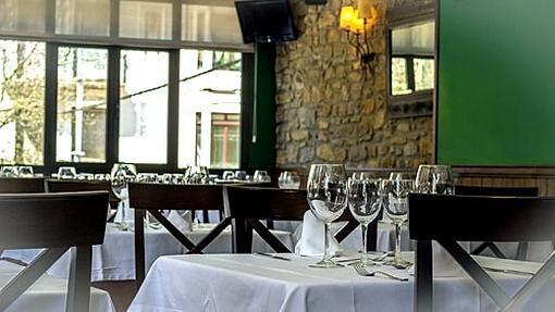 Comedor de la planta superior del restaurante Biarritz