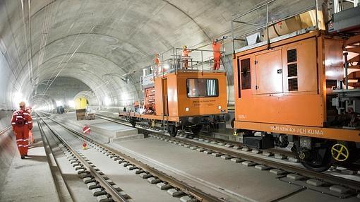 Últimos trabajos en el túnel de San Gotardo