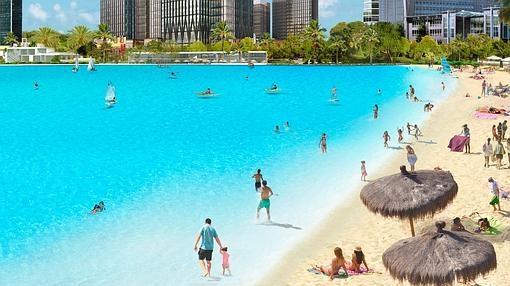 Construyen en m laga una laguna artificial de aguas for Como hacer una laguna