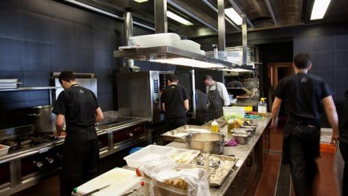 La cocina del restaurante Alborada