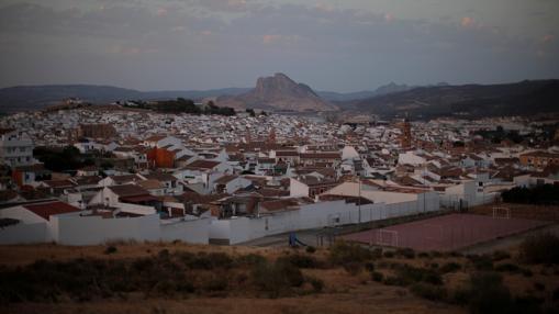 Vista de la Peña de los Enamorados, en Antequera