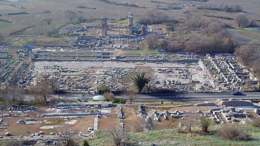 Vista de las ruinas de Filipos