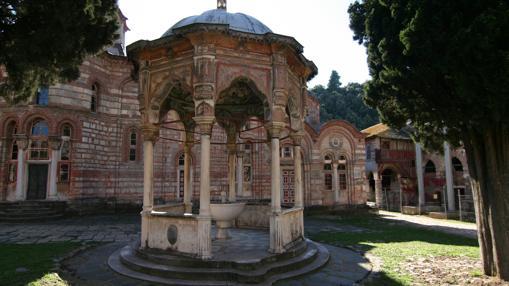 Detalle del interior de uno de los monasterios del monte Athos