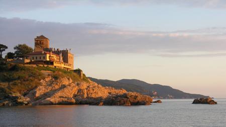 Atardecer en uno de los monasterios del monte Athos