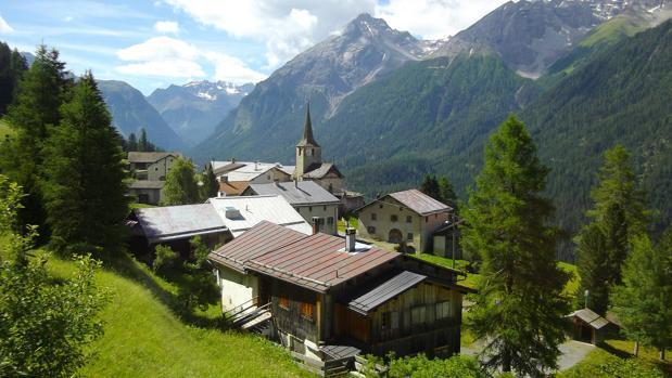 Este es el camino real de heidi en los alpes suizos - Casas en los alpes suizos ...