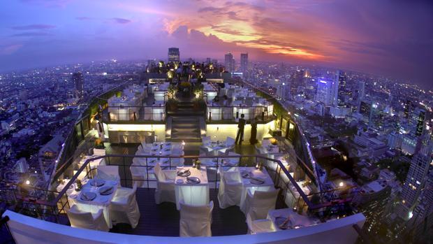La noche de Bangkok, desde la terraza del hotel Banyan Tree Bangkok
